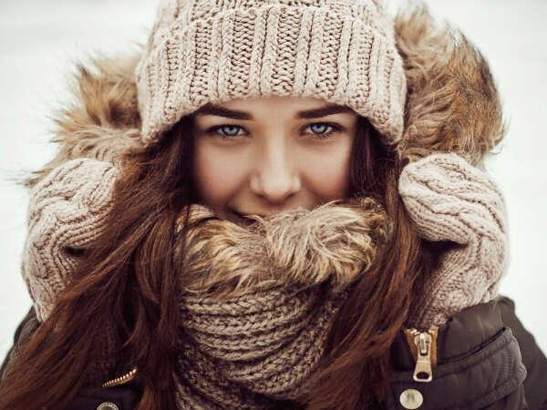 Тёплый шарф и шапку
