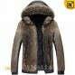 CWMALLS® Men Raccoon Fur Jacket with Hood CW817258