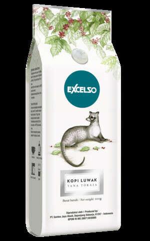 Кофе в зернах Excelso Kopi Luwak, 100 гр