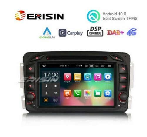 "Erisin ES8163C 7"" Octa-Core Android 10.0 Car DVD CarPlay & Auto GPS DVR for Benz CLK W209 - Erisinworldwide"