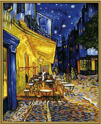 """""""Schipper"""" Раскраска по номерам № 1 40 x 50 см """"Ночное кафе художник Ван Гог"""" 9130359"""