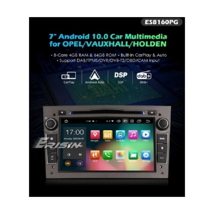 "ERISIN ES8160PG 7"" OCTA-CORE ANDROID 10.0 CAR DVD DSP CARPLAY & AUTO GPS TPMS DAB+ FOR OPEL ANTARA ZAFIRA COMBO"