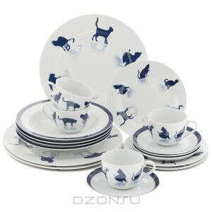 """Набор столовой посуды """"Кошки"""", 20 предметов"""