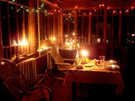 Романтический ужин с любимым