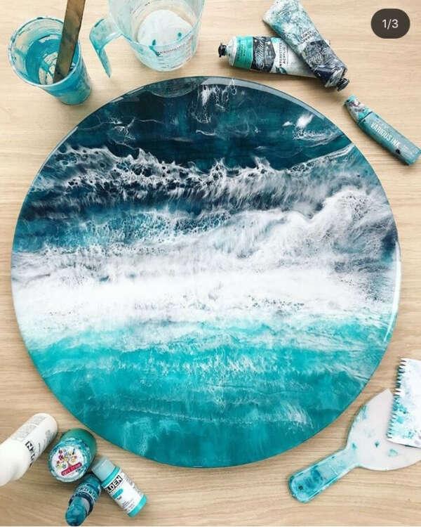 Мастер-класс по рисованию моря эпоксидной смолой