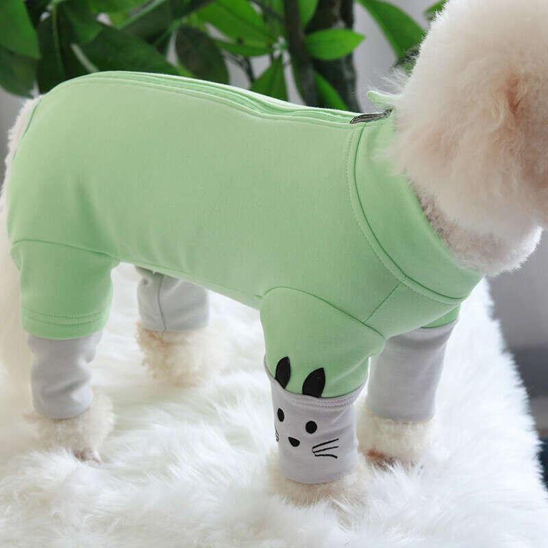 915.72руб. 50% СКИДКА|Комбинезон для собаки, осенне зимний комбинезон из чесаного хлопка для щенков, одежда для защиты живота, Пижама для маленьких собак, толстовка с длинным рукавом|Комбинезоны и ромперы|   | АлиЭкспресс