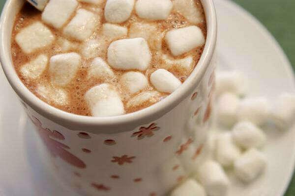 маршмеллоу в горячем шоколаде