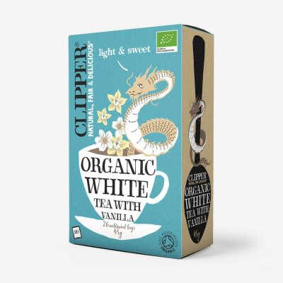 Органический белый чай с ванилью