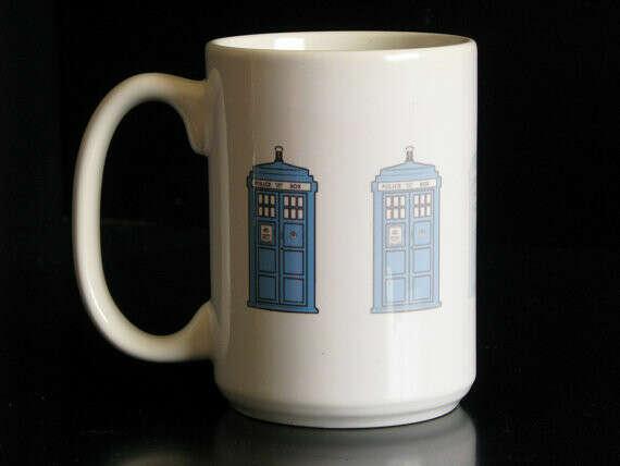 Dr. Who Disappearing Tardis 15 oz. Coffee Mug