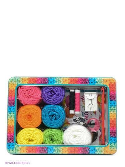 Набор для вязания крючком Радужный шарф от 8 лет, Alex