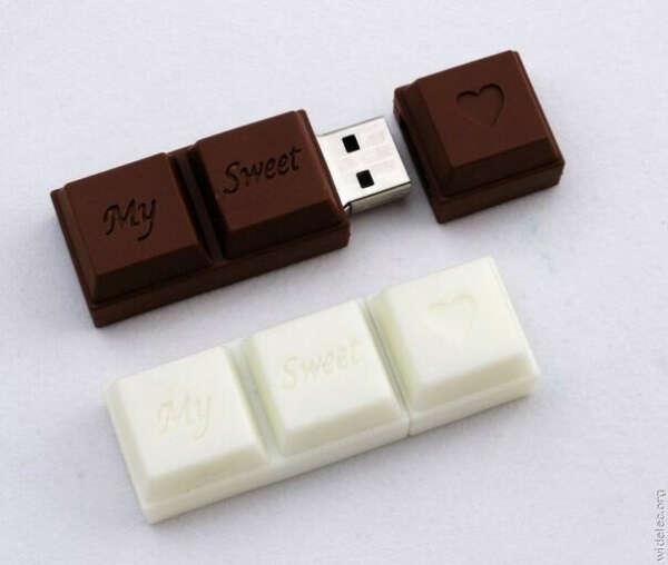 Флешка-шоколад.