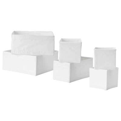 СКУББ Набор коробок, 6 шт., белый - IKEA