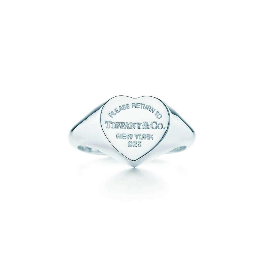 Кольцо с печаткой в форме сердца