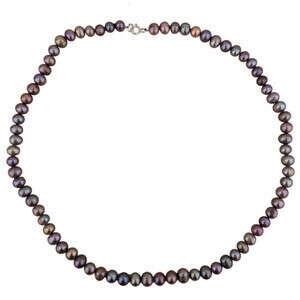 Ожерелье из жемчуга с серебряной застежкой