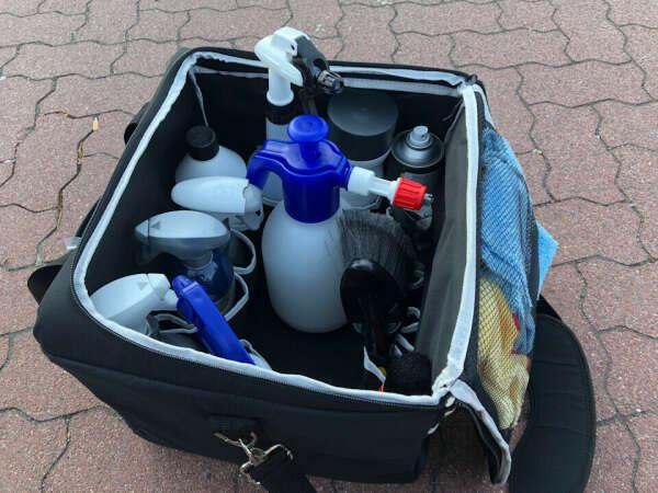 Сумка для автохимии в багажник (пример - MONELLO CUBO XL и Meguiars ST015)