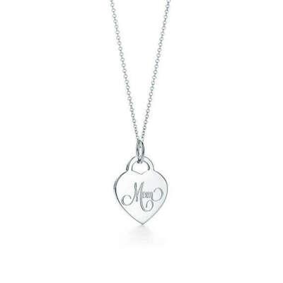 Tiffany & Co MOM HEART TAGCHARM AND CHAIN