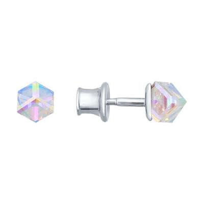 Серьги-пусеты из серебра с кристаллами swarovski арт. 94021802
