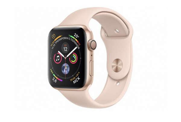 Apple Watch Series 4, 44 мм цвета «розовый песок»