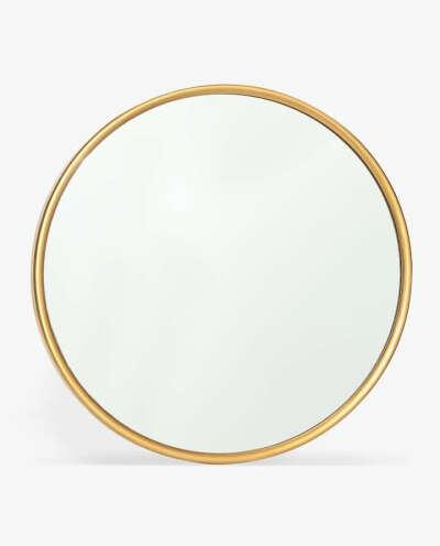 Круглое зеркало в золотистой раме