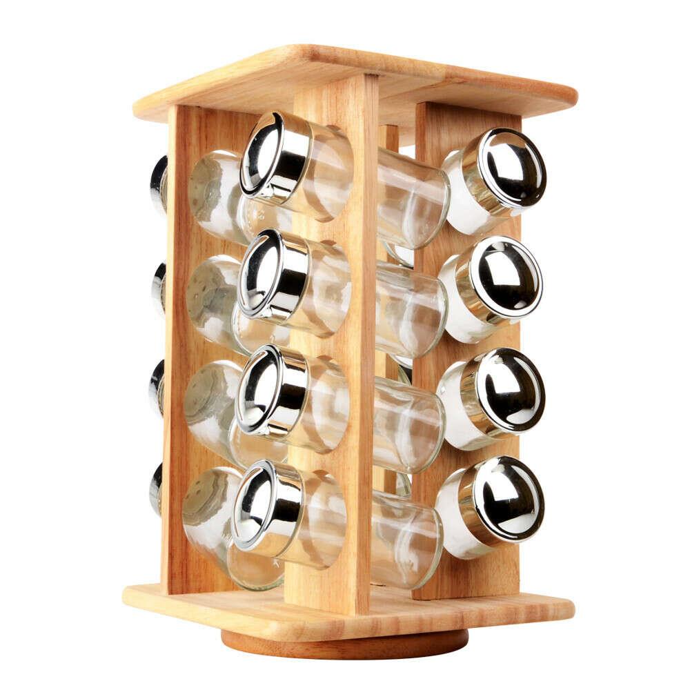 Деревянные револьверный специй с 16 шт. стеклянные банки кухня вращающихся ароматизатор хранения инструмента для специй соль перец сахар, принадлежащий категории Перечницы и солонки и относящийся к Для дома и сада на сайте AliExpress.com | Alibaba Group