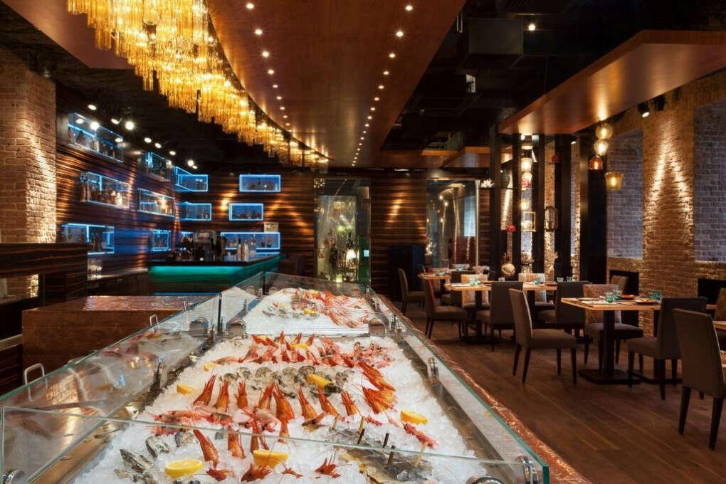 Поход в рыбный ресторан