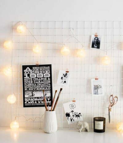 Органайзер Moodboard, белая сетка решетка для идей, мудборд доска желаний