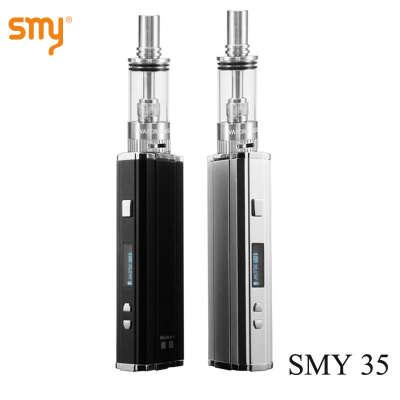 Smy 35 Mod Kit электронная сигарета испаритель 7   35 Вт 18650 e сигарета Vape ручка кальян смок дкт атомайзер комплект X9018 купить на AliExpress