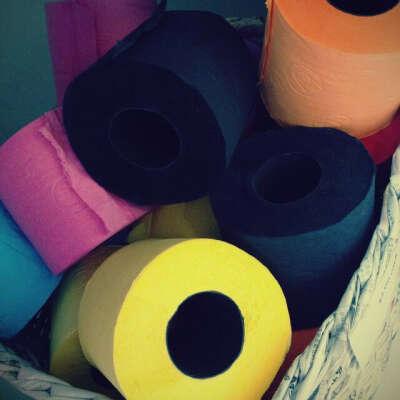 Colored Toilet Paper by Renova