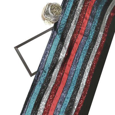 Multicolor Sequin on Georgette Fabric