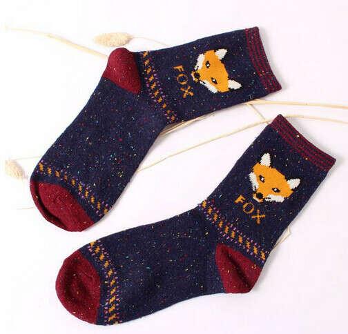 Носки с лисичками