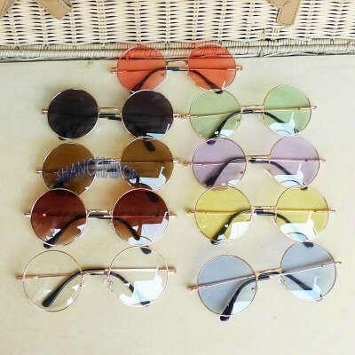 Разноцветные круглые очки
