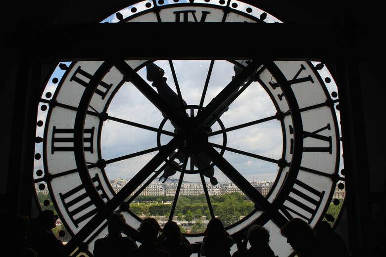 Сфотографировать часы в музее Орсе