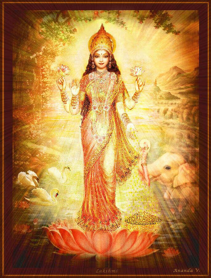 Вышивка «Богиня Лакшми»
