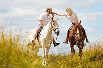 Парная прогулка на лошадях