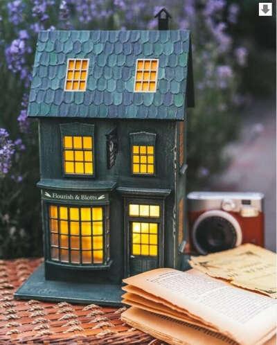Набор для сборки светильника Книжная лавка Flourish & Blotts