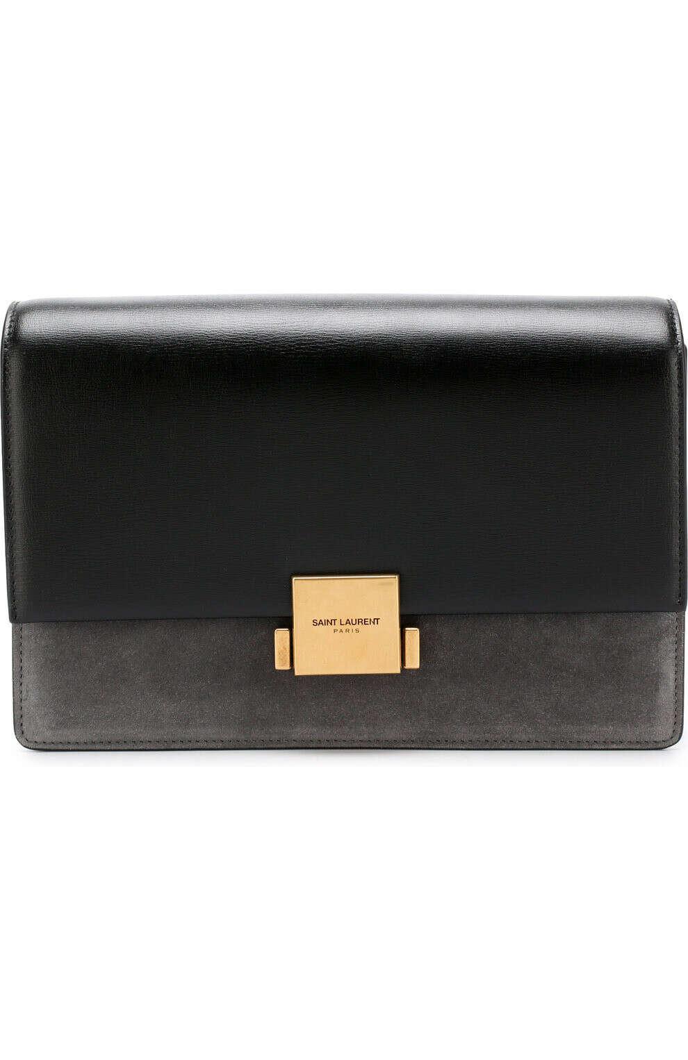 Женская сумка bellechasse medium SAINT LAURENT темно-серая цвета — купить за 109000 руб. в интернет-магазине ЦУМ, арт. 482044/D423W