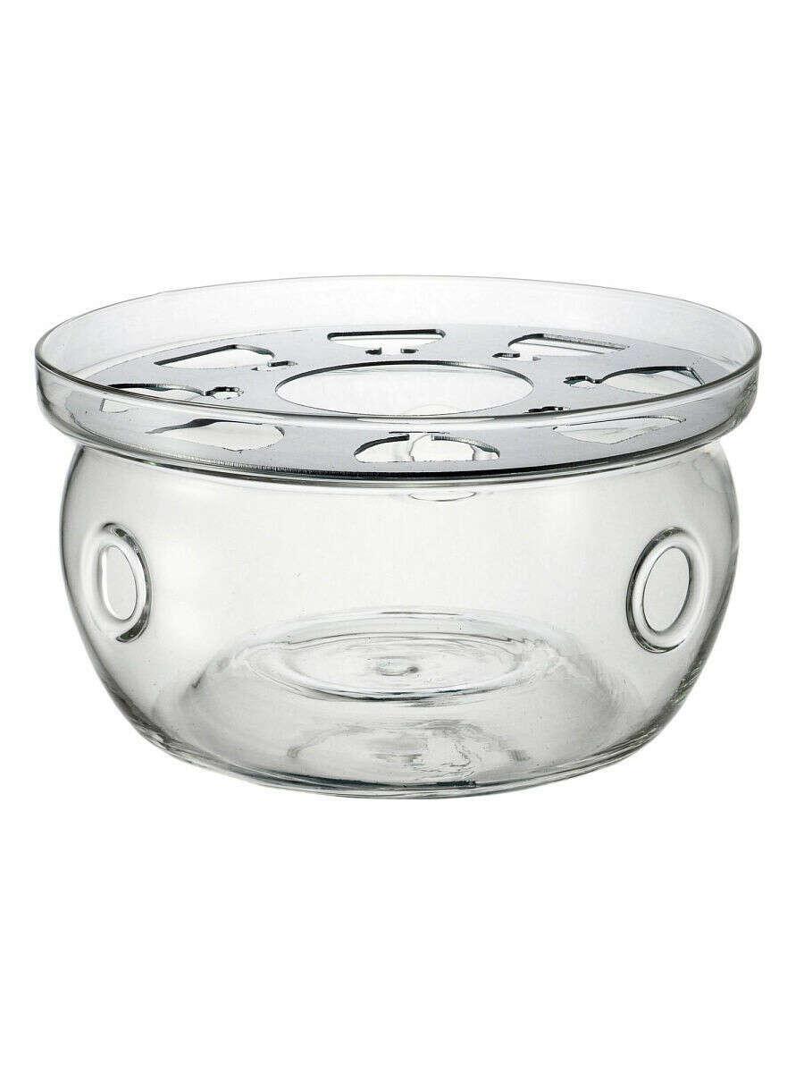 Подставка для подогрева свечой маленького стеклянного заварочного чайника диаметр 120 мм CnGlass 7285400 в интернет-магазине Wildberries
