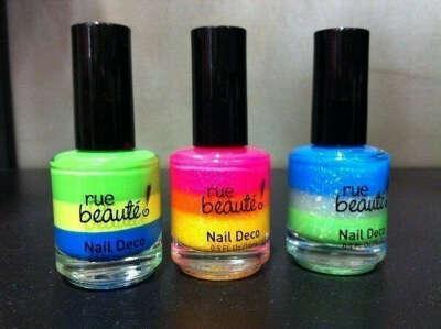 Разноцветные лаки для ногтей*
