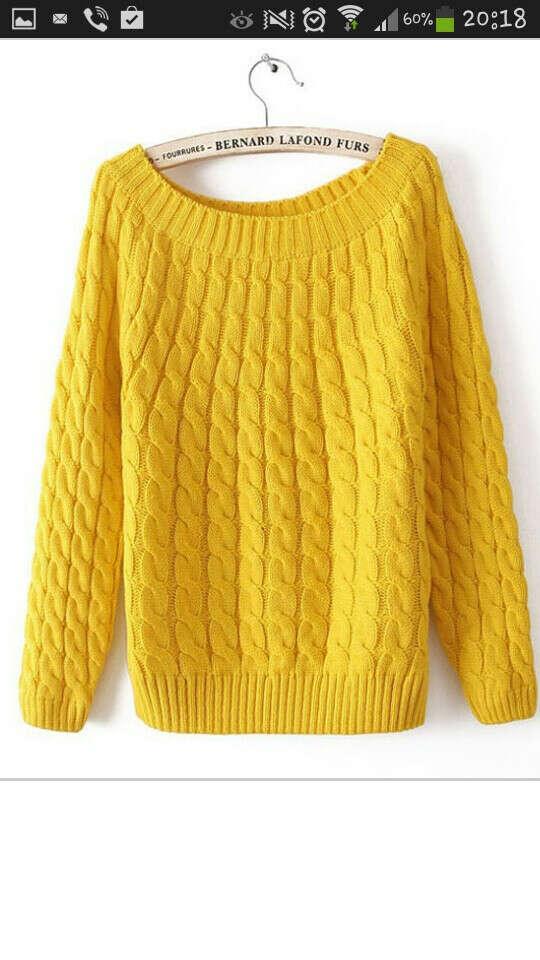 Желтый свитер)