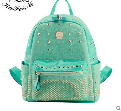 Вместительный рюкзак мятного цвета