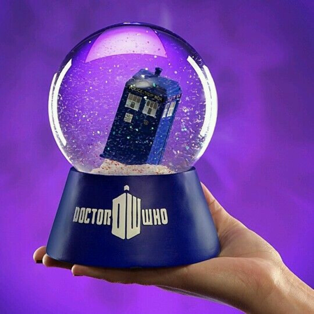 Doctor Who Tardis Light up Christmas Snow Water Globe Kurt Adler