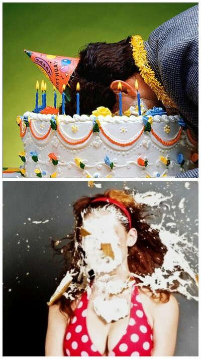 Торт в лицо или лицом в торт