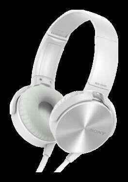 Наушники Sony MDR-XB450AP, белые