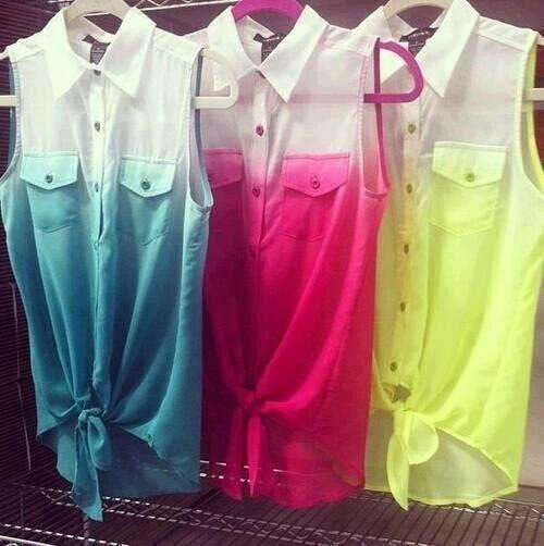 цветные рубашки:)