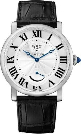Rotonde de Cartier watch, Calendar Aperture and Power Reserve