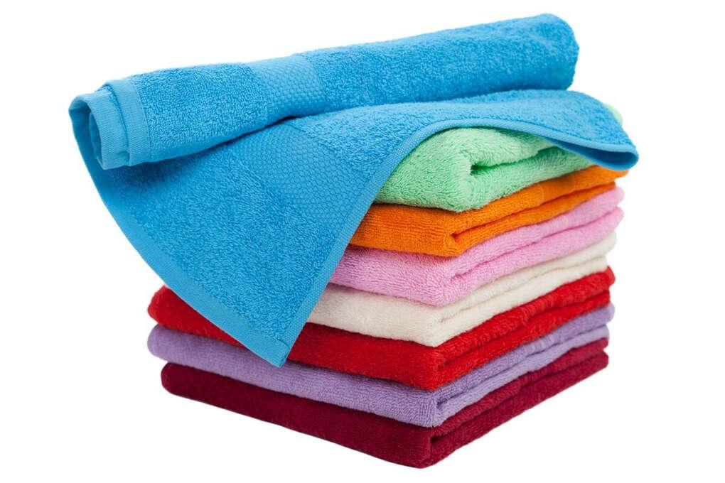 Большие разноцветные махровые полотенца