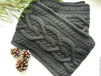Связать шарф мужу