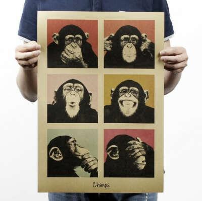 Постер - обезьянка