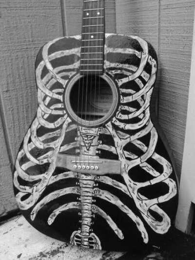 разрисовать гитару