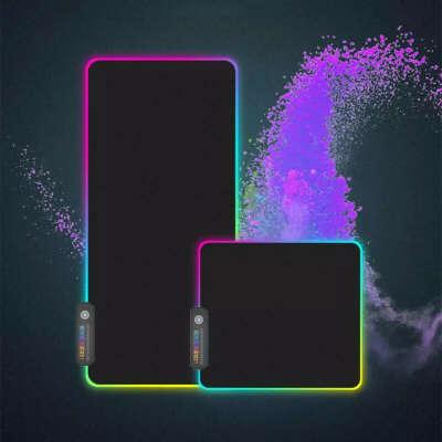 RGB светящийся игровой коврик для мыши